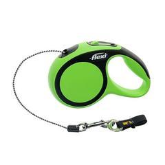 Flexi Desin рулетка трос 3м для собак до 8кг зеленая