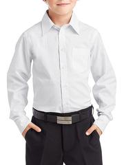 873-1 рубашка для мальчиков, белая