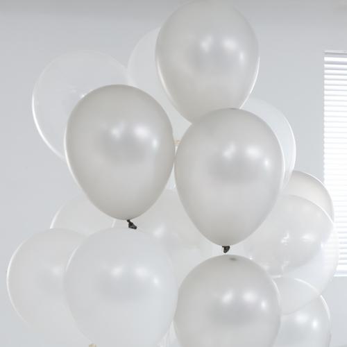 Белые воздушные шары (фото 2)