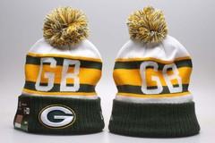 Шерстяная вязаная шапка футбольного клуба GB (NFL) с помпоном