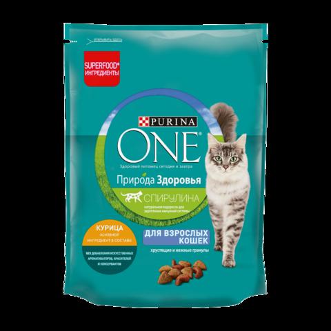 Purina One Adult Сухой корм для кошек Природа Здоровья Курица