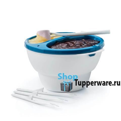 Набор Аллегро для фондю с 4 вилочками в голубом цвете рис.2