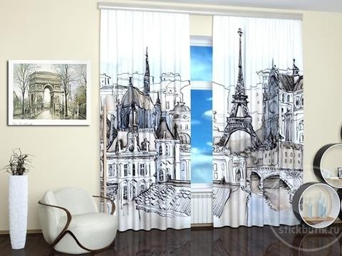 Комплект фотоштор  Пейзаж Парижа