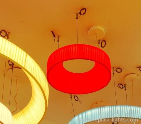 replica IRIS round pendant by Dix heures dix ( beige + 40 cm )