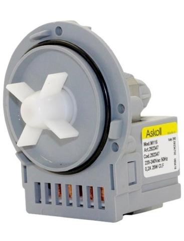 Насос для стиральной машины Indesit/Ariston без улитки 145315- Askoll M116/M253/M231, см.PMP014UN ПРОМО