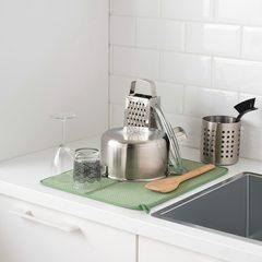 НЮХОЛИД Коврик для сушки посуды зеленый