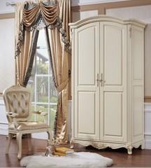 Шкаф 2-дверный Милано (8801 MK-1847-IV) Слоновая кость
