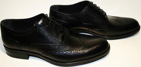 Мужские классические туфли черные оксфорды, кожаные броги Luciano Bellini