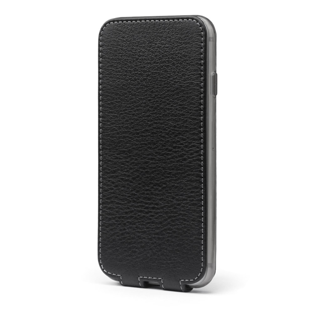 Чехол для iPhone 7 Plus из натуральной кожи теленка, черного цвета
