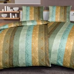 Постельное белье 2 спальное евро Janine Messina 4720 irisgrun-honiggold