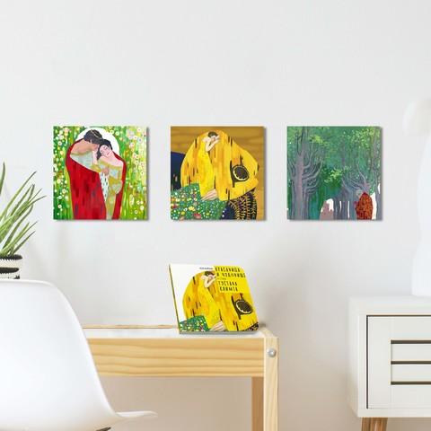 Триптих  «Любовь», «Заколдованный сад», «Возвращение» 30х30см