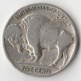 K9183, 1937, США, 5 центов индеец бизон буффало