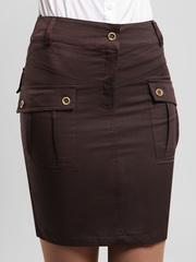 5699-1 юбка темно-коричневая