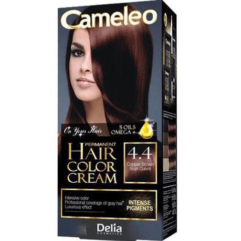 Delia Cosmetics Cameleo Kрем-краска для волос тон 4.4 медный коричневый