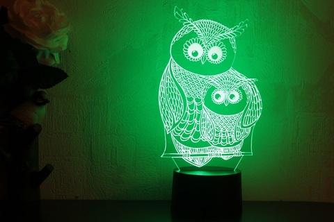Лампа Сова с совенком