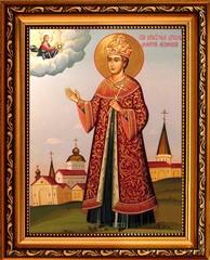 Димитрий Угличский и Московский Святой Благоверный Царевич. Икона на холсте.