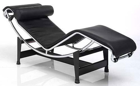 replica  armchair  LC4 Chaise  ( leather )
