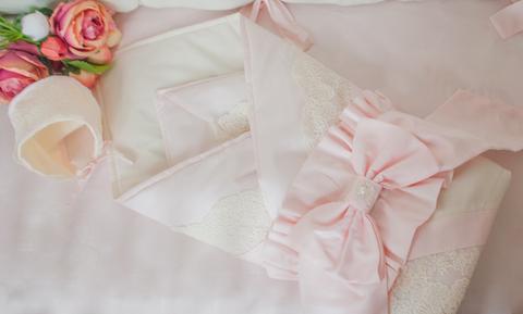 Демисезонное одеяло - конверт на выписку Экрю