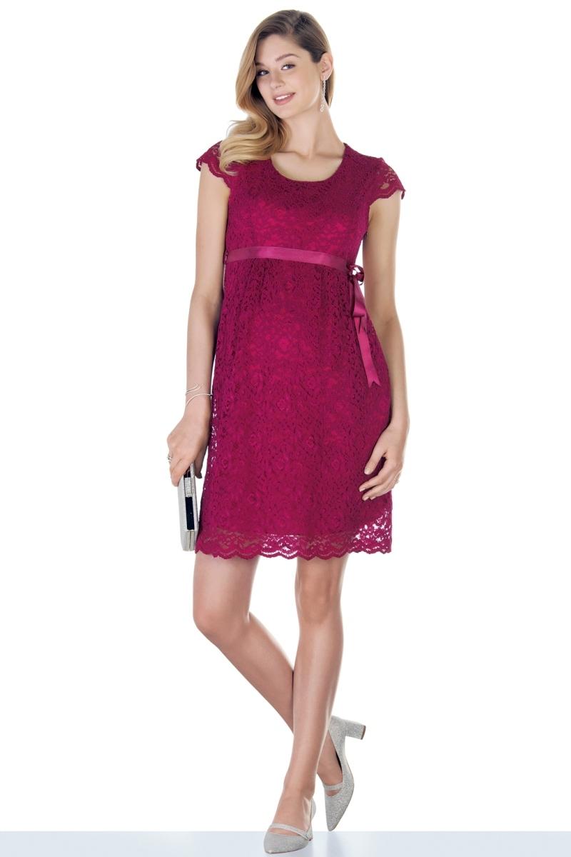 Платье 03718 вишня