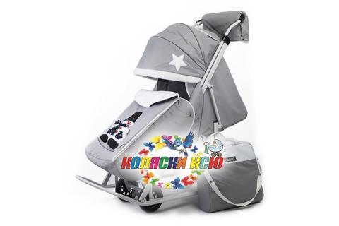 Санки коляска PIKATE Toy «Светло-серый»