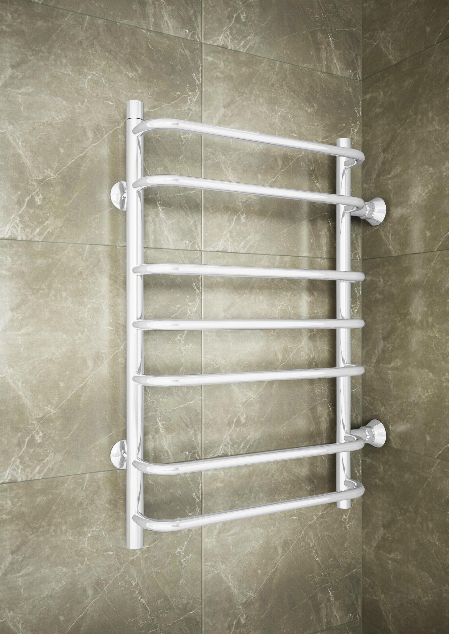 Standart  White - водяной полотенцесушитель с боковым подключением белого цвета.