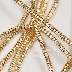 Канитель для вышивания Трунцал 4-гранный 1,5 мм (цвет - золото)