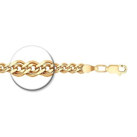 985060802 - Браслет из золочёного серебра плетения Нонна