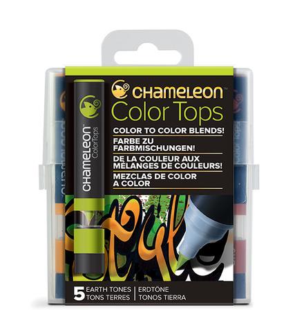Набор цветовых блендеров Chameleon Color Tones Earth Tones, оттенки земли, 5 шт.