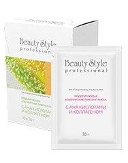 Beauty Stylе Моделирующая альгинатная лифтинг-маска с АНА-кислотами и коллагеном 30 гр.*10 шт