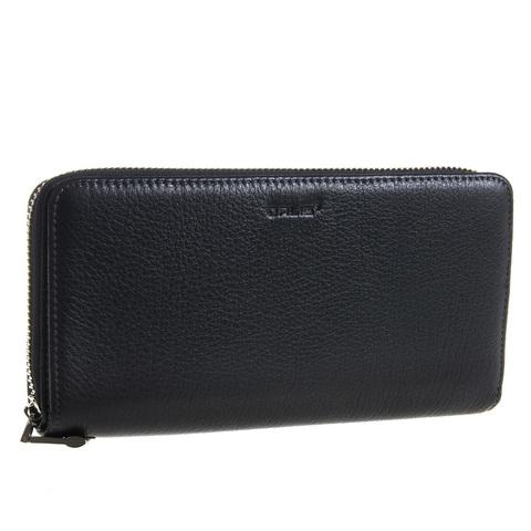 Мужской чёрный клатч портмоне из натуральной кожи GALIB 7M248