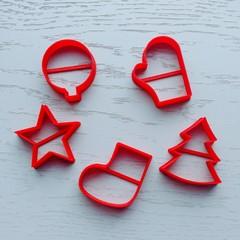 Новогодние мини набор форм для пряника