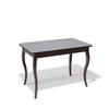 Стол KENNER 1100C, для кухни, стекло, раздвижной, капучино/венге