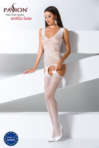 Сексуальный бодистокинг сетка белого цвета