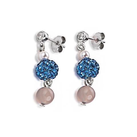 Серьги Coeur de Lion 4832/21-0720 цвет голубой, серый