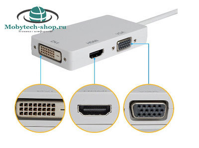 Адаптер displayport- hdmi-dvi-vga