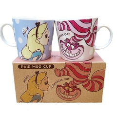 Алиса в стране чудес пара кружек Алиса Чеширский Кот — Alice in Wonderland a couple of mugs Alice Cheshire Cat