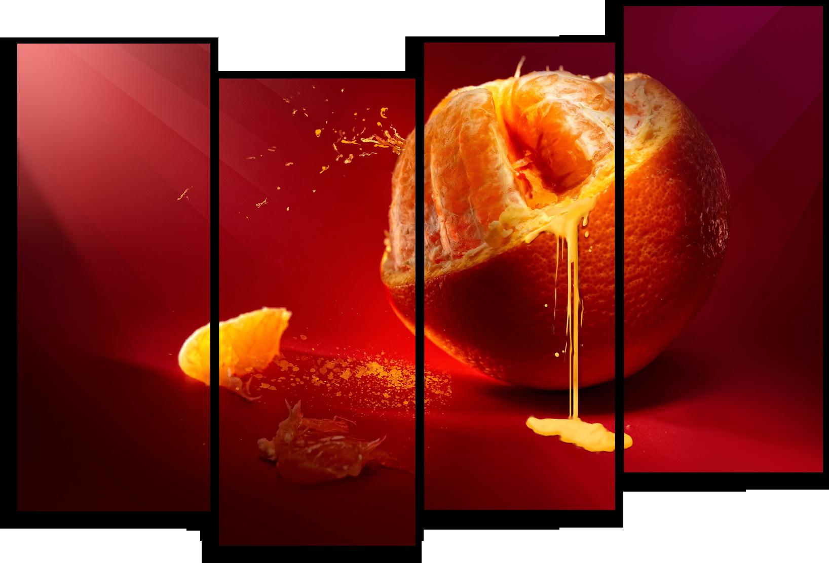 """Еда Модульная картина """"Сочный апельсин"""" М454.png"""