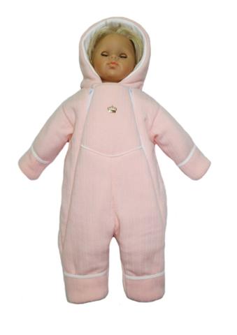 Комбинезон вязаный для новорожденного Persona розовый