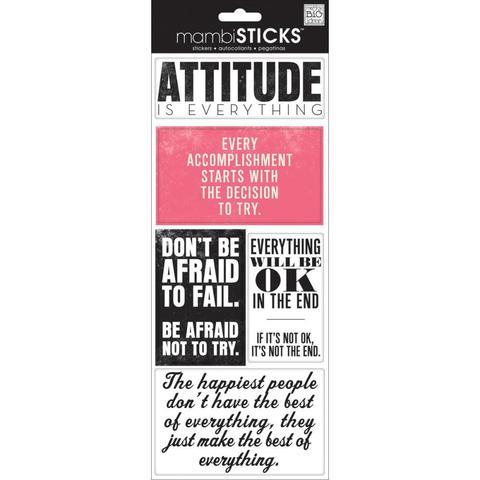 Стикеры  mambi Specialty Stickers Attitude Is Everything 13х30 см