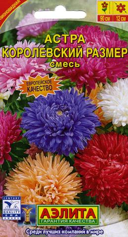 Семена Цветы Астра Королевский размер смесь