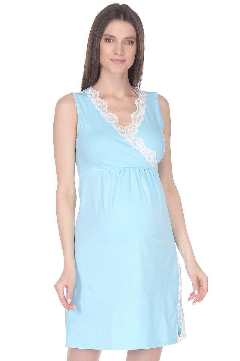 Ночная сорочка для беременных и кормящих 09912 бирюзовый