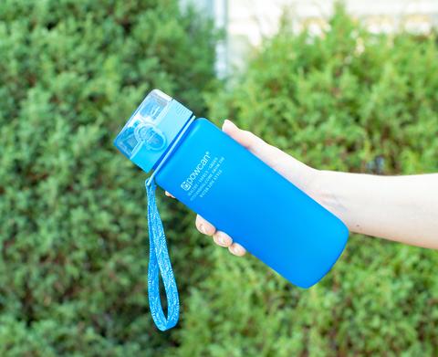 Бутылка POWCAN - 800 мл. матовая - Синий