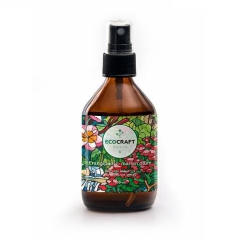 Cпрей-кондиционер термозащитный и антистатический для волос Франжипани и марианская слива   Ecocraft