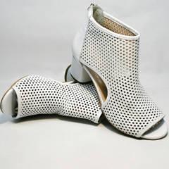 Летняя обувь ботинки ботильоны кожаные Magnolya 3503 56-3 SummerWhite