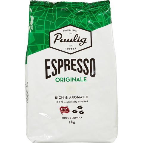 Кофе Paulig Espresso Originale в зернах, 1кг