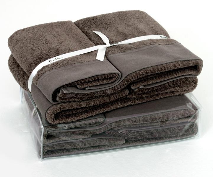 Набор полотенец 3 шт Devilla Senses коричневый