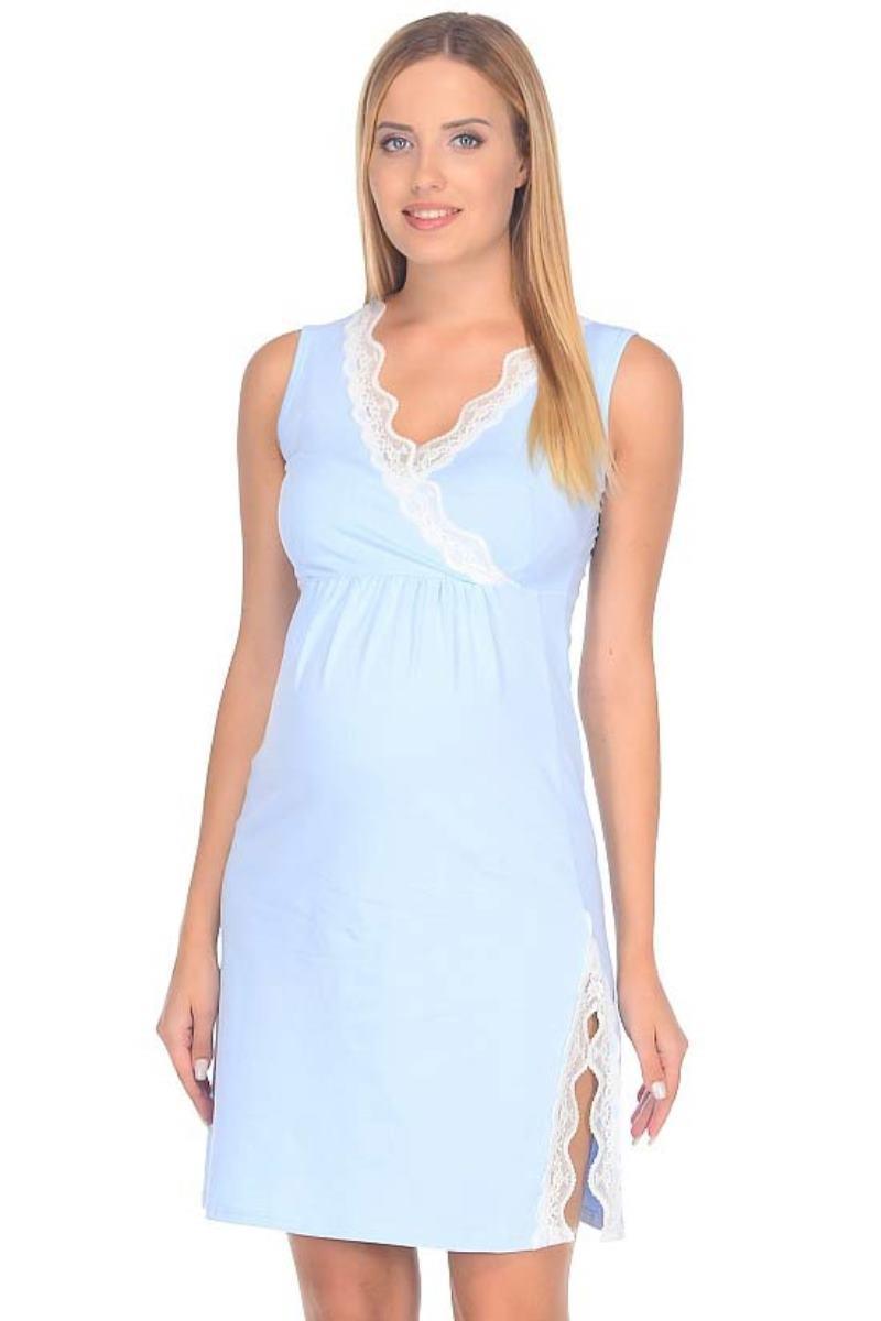 Сорочка 09912 голубой
