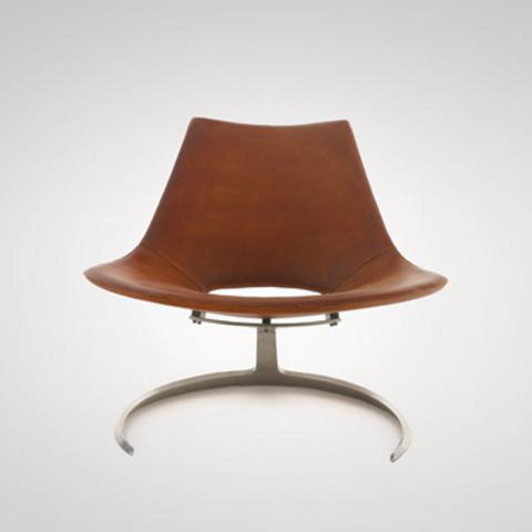 replica scimitar armchair ( leather )