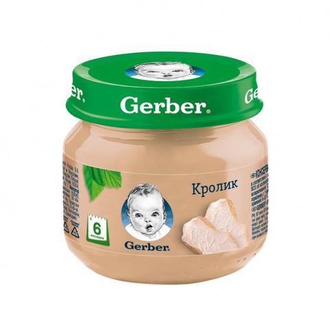 Мясное пюре Gerber® «Кролик» 80гр