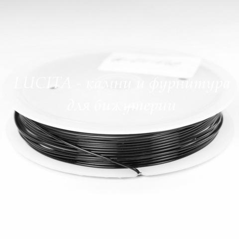 Проволока медная 0,8 мм, цвет - черный, примерно 3 метра